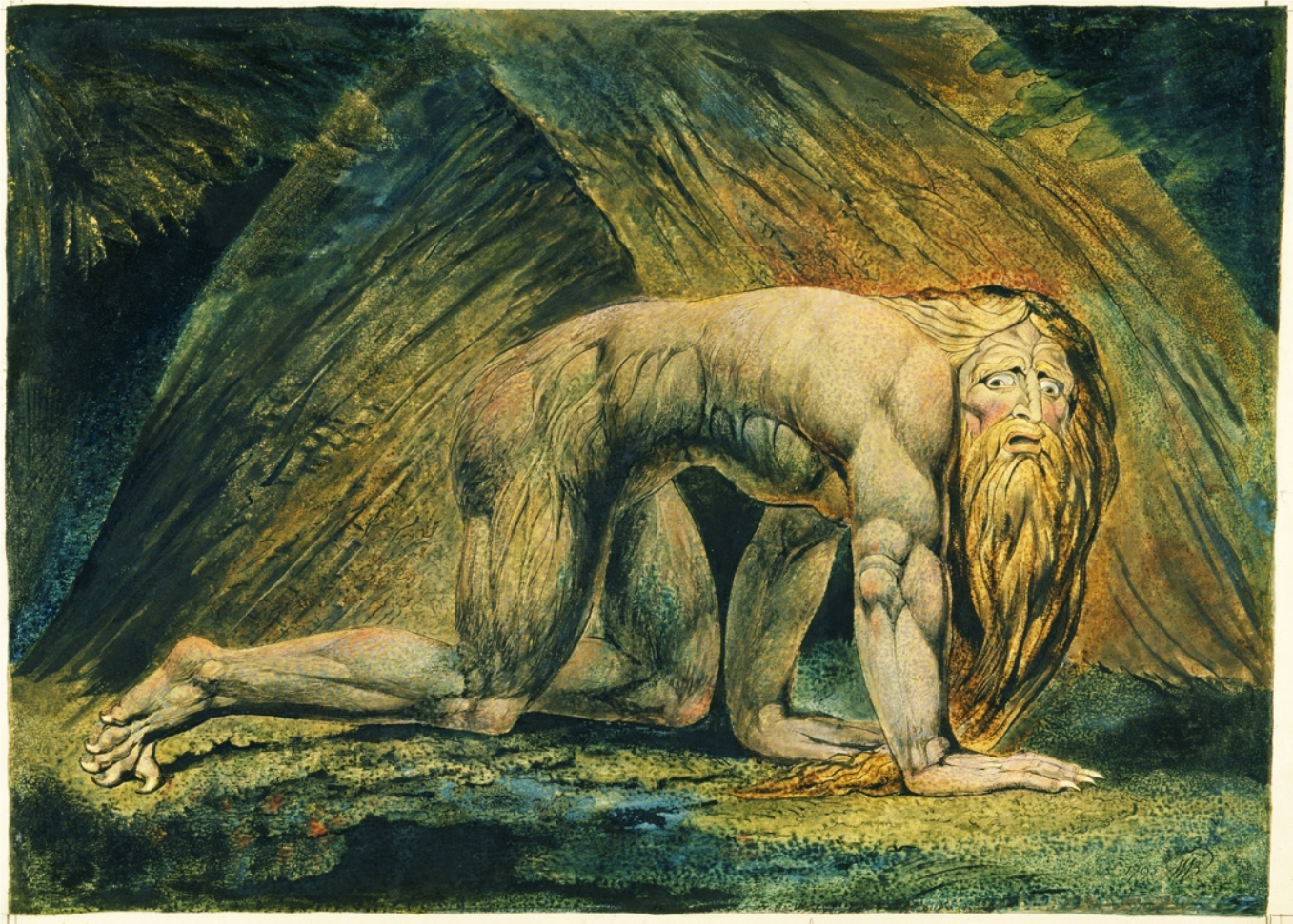 "William Blake, 1757–1827: ""Nebuchadnezzar"""